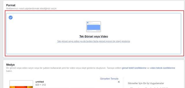 facebook görsel reklam