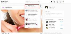 instagram etiket bulmak