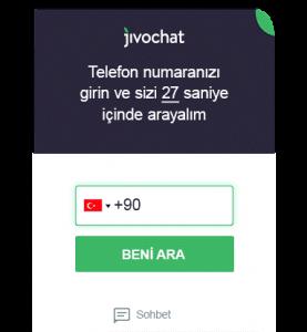 jivochat telefon görüşmesi